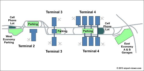 PHX Airport Map